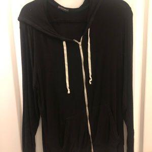 Long sleeve oversized zip up - Brandy Melville